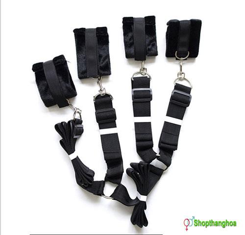 Bộ dụng cụ trói tay chân vào 4 góc giường Melo KL000906