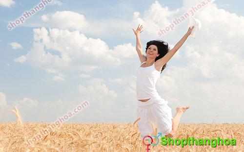 phụ nữ hạnh phúc